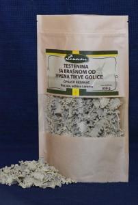 Testenina sa brašnom semena tikve golice – čipkasti rezanac