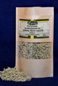 Testenina sa brašnom semena tikve golice – spirala